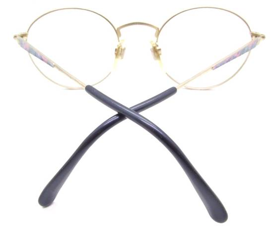 Givenchy RARE Vintage Gold 90s Round Frames Givenchy Pink Blue Purple Eyeglasses Size ONE SIZE - 5