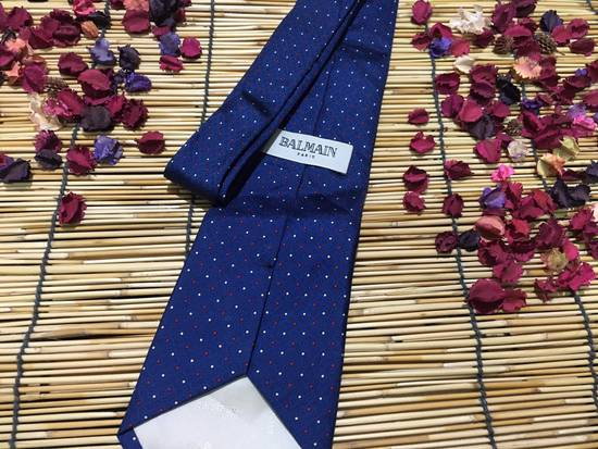 Balmain Balmain Necktie, Blue Color Necktie, Dot Pattern Size ONE SIZE - 2