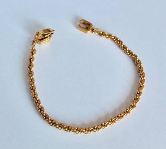 Givenchy Gold Plated Herringbone & Rope Link Bracelets (2) Size ONE SIZE - 2