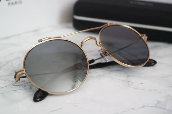 Givenchy NEW Givenchy 7079/S Gold Metal Silver Mirrored Round Sunglasses Size ONE SIZE - 7
