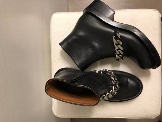 Givenchy Chain Leather Ankle Boots Size US 7 / EU 40 - 2
