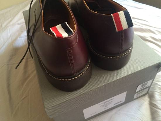 Thom Browne burgundy LEATHER OXFORD SHOES Size US 12 / EU 45 - 2
