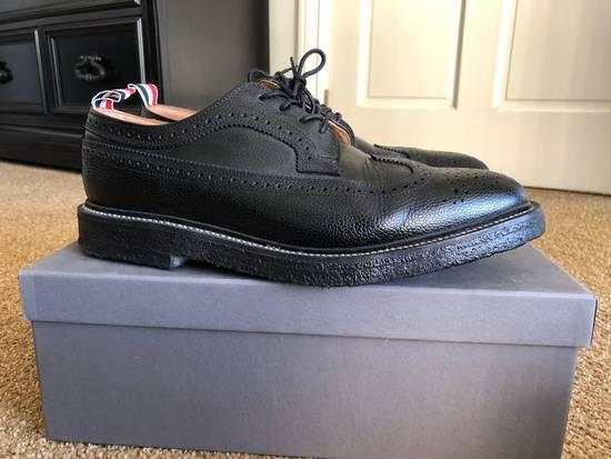 Thom Browne Men's Black Pebble Wingtip Brogue Shoe Size US 12 / EU 45 - 2