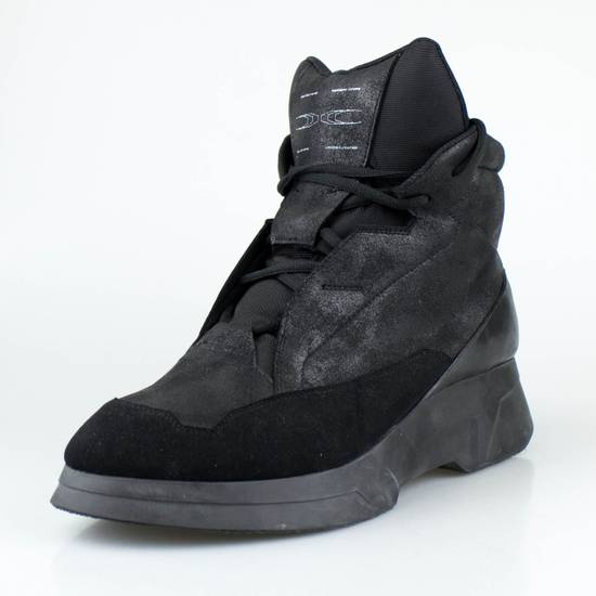 Julius 7 Black Coated Cloth Leather Hi Top Sneakers Shoes Size US 11 / EU 44 - 1