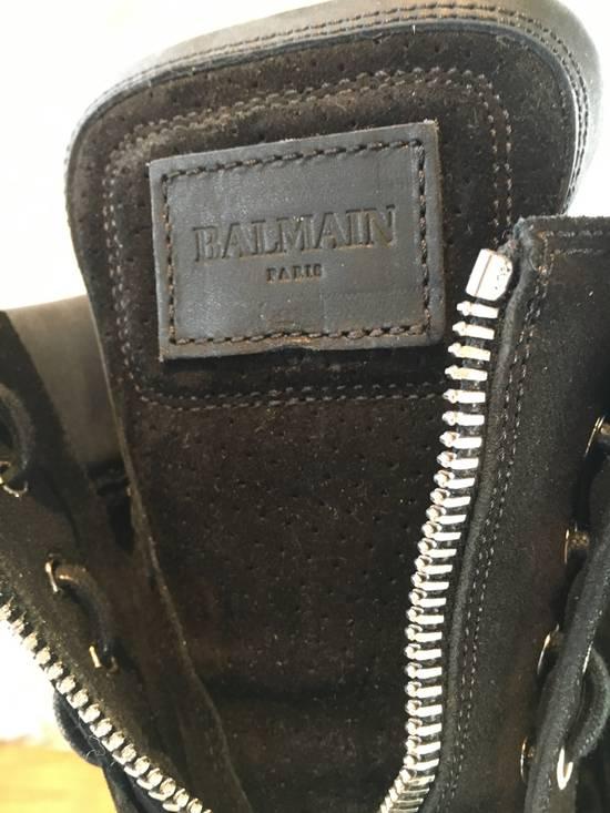 Balmain Balmain Black Suede Combat Boots Size US 8 / EU 41 - 2
