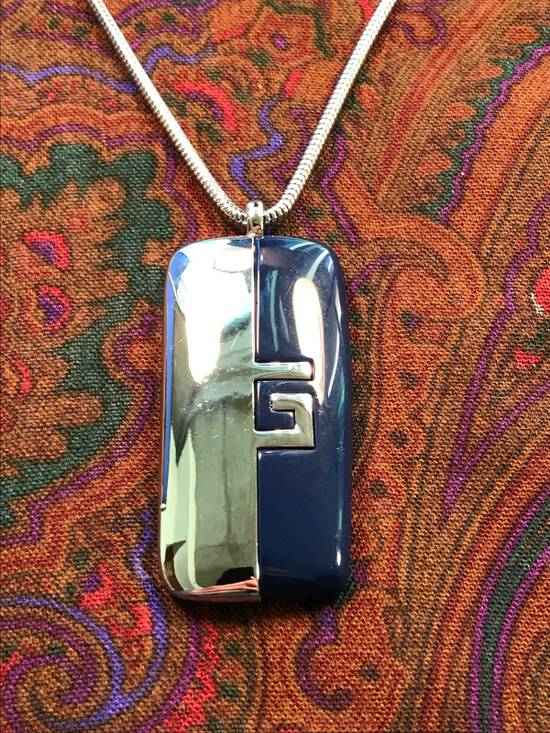Givenchy Silver Blue Amulet Necklace Size ONE SIZE - 1