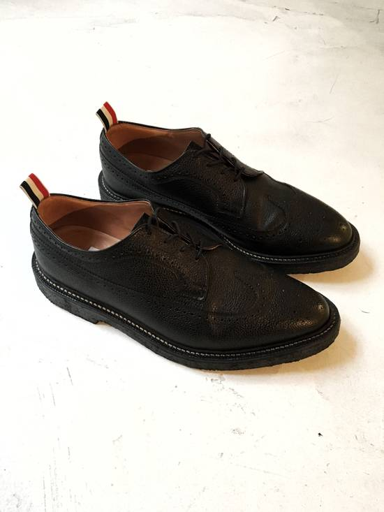 Thom Browne THOM BROWNE CLASSIC BROGUES WITH GUM SOLE IN BLACK PEBBLE GRAIN SIZE US11 Size US 11 / EU 44 - 1