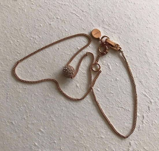 Givenchy Givenchy Crystal Pendant Rose Gold Tone Necklace Diamond Chain Size ONE SIZE