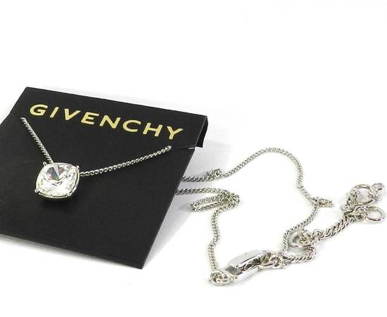 Givenchy Givenchy Silver Crystal Pendant Necklace Jewelry Chain Diamond Size ONE SIZE