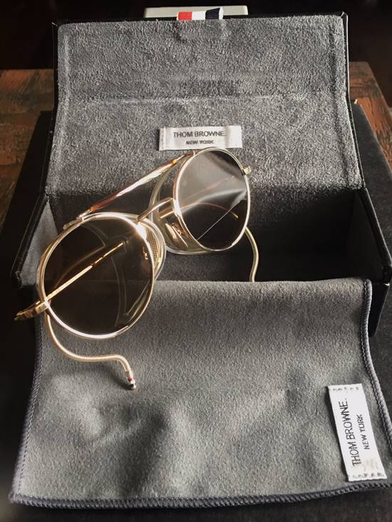 Thom Browne Thom Browne 12K Gold Aviator Sunglasses Size ONE SIZE - 7