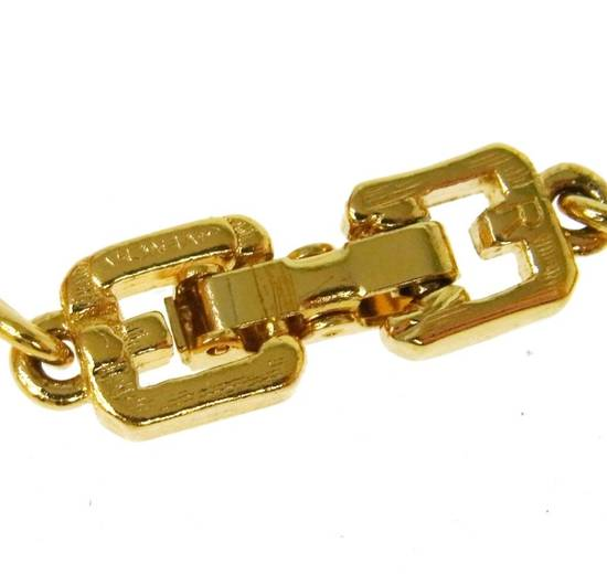 Givenchy Givenchy Logo Charm Bracelet Gold Tone G Clasp Size ONE SIZE - 2