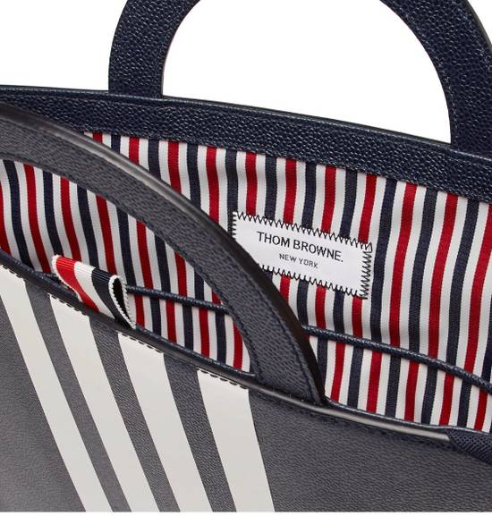 Thom Browne NWT Striped Pebble-grain Leather Briefcase Size ONE SIZE - 3