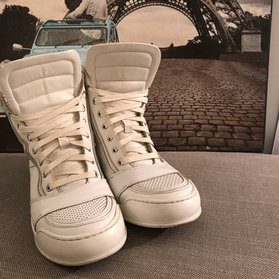Balmain Balmain White High-Top Sneakers Size US 6.5 / EU 39-40 - 1