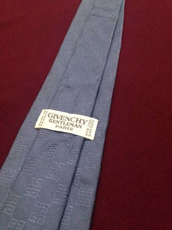 Givenchy Givenchy Grey Squared G Stripped Silk Tie Size ONE SIZE