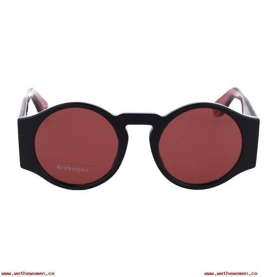 Givenchy NEW Givenchy GV 7056/S Black Red Tint Lens Circle Thick Rim Sunglasses Size ONE SIZE - 2