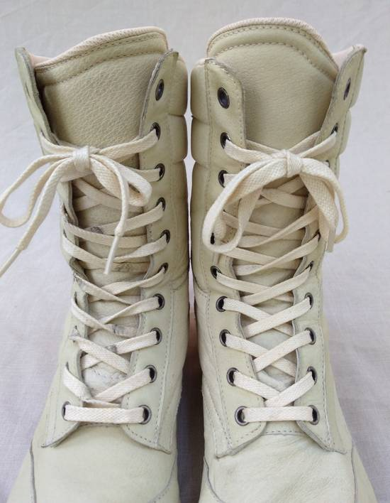 Julius Backzip White Pigskin Boxing Boots Size US 9 / EU 42 - 2