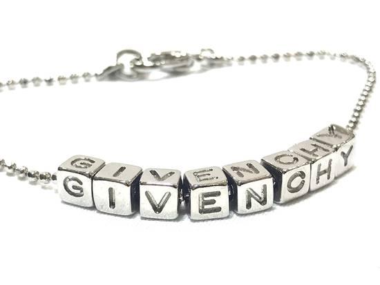 Givenchy Silver Spellout Bracelet Size ONE SIZE