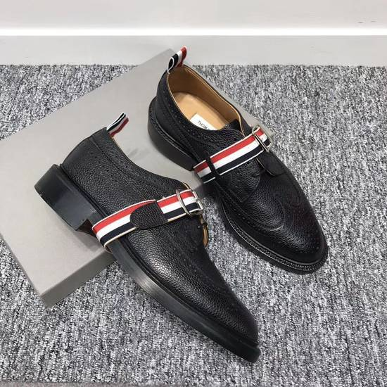 Thom Browne Black Grosgrain Longwing Brogues Size US 6.5 / EU 39-40 - 1