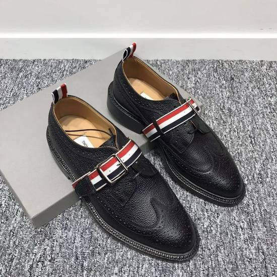 Thom Browne Black Grosgrain Longwing Brogues Size US 6.5 / EU 39-40