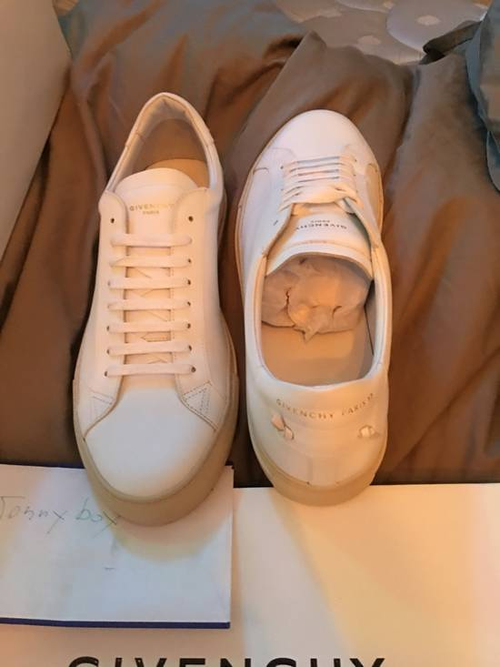 Givenchy Paris White Leather Sneakers Size US 12 / EU 45 - 6