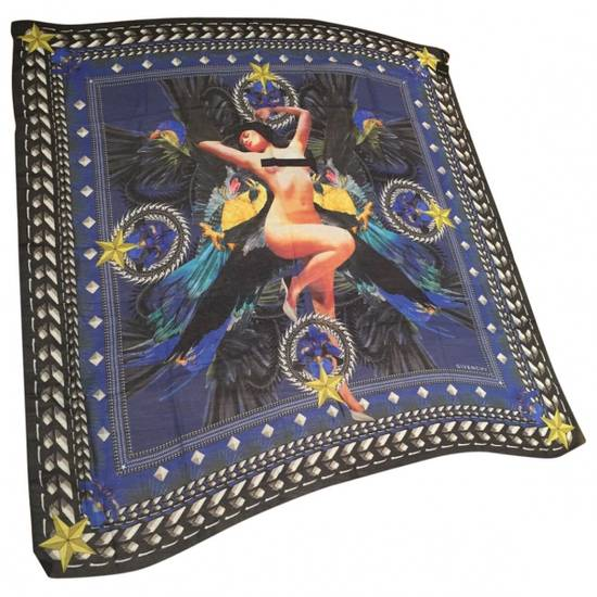 Givenchy Blue Givenchy Scarf 70cm X 70cm Size ONE SIZE