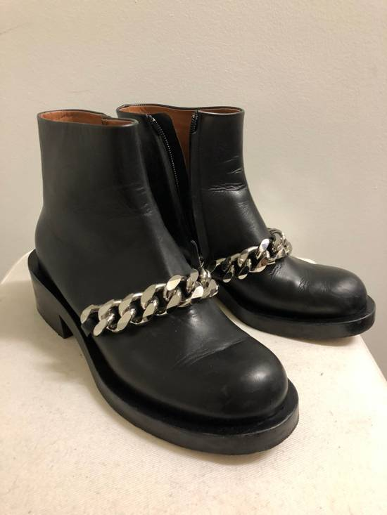 Givenchy Chain Leather Ankle Boots Size US 7 / EU 40