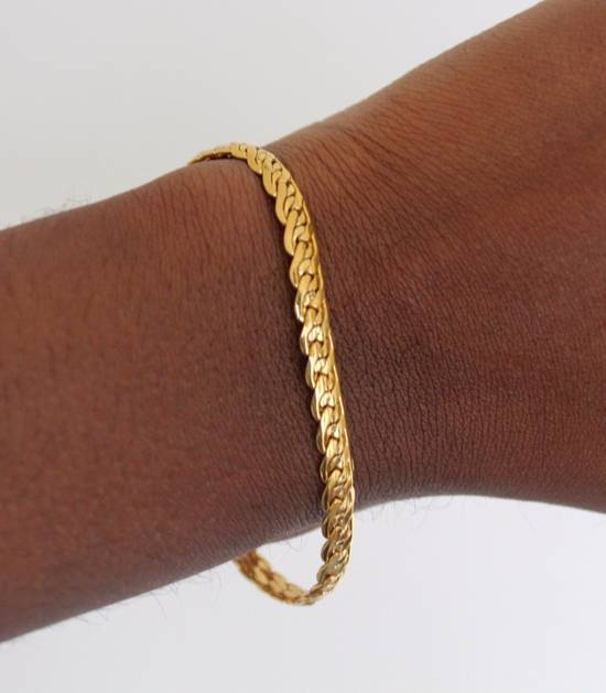 Givenchy Gold Plated Flat Braided Bracelet Size ONE SIZE - 3