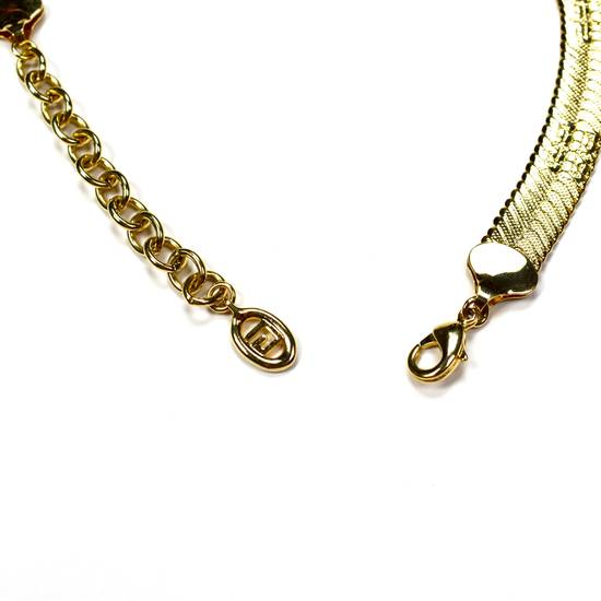 """Givenchy 17.25"""" Gold Logo Engraved Chain Necklace Size ONE SIZE - 5"""