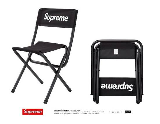 Supreme Supreme/Coleman Folding Chair Size ONE SIZE