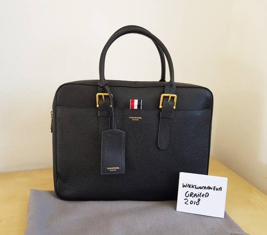 Thom Browne Thom Browne Business Bag briefcase suitcase Black Pebble Grain Size ONE SIZE