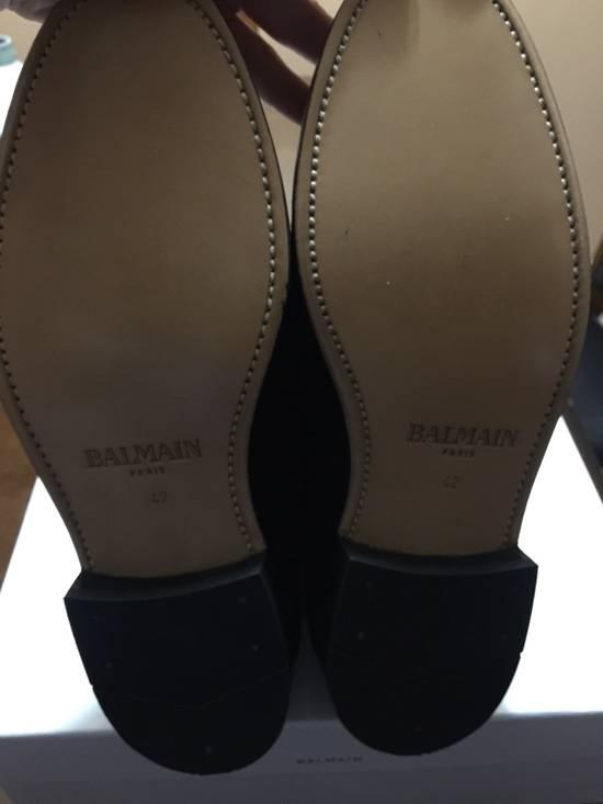 Balmain Black Suede Boots Size US 9 / EU 42 - 3