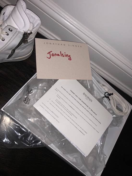 Balmain White Balmain Hi Top snaeaker W Zip Closure Brand New Size US 10 / EU 43 - 4
