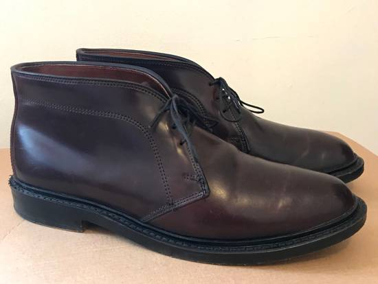 53f1fa8be07 Allen Edmonds Dundee Burgundy Horween Shell Cordovan Chukka Shoes Boots not  Alden Size US 8 ...