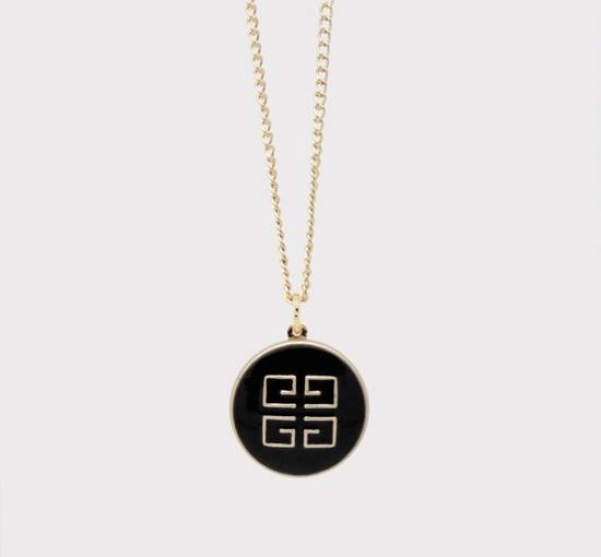 Givenchy Gold Givenchy Logo Necklace Size ONE SIZE