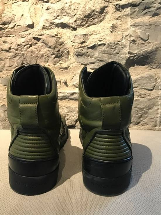 Givenchy Givenchy Green Tyson High-Top Sneakers Size US 11 / EU 44 - 3