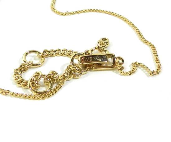 Givenchy Givenchy Gold Tone Chain Red Ruby Crystal Pendant Necklace Size ONE SIZE - 1