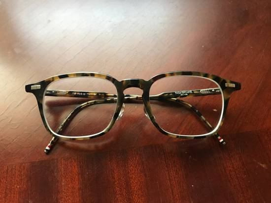 Thom Browne Tortoiseshell Acetate TB-406 Glasses Size ONE SIZE