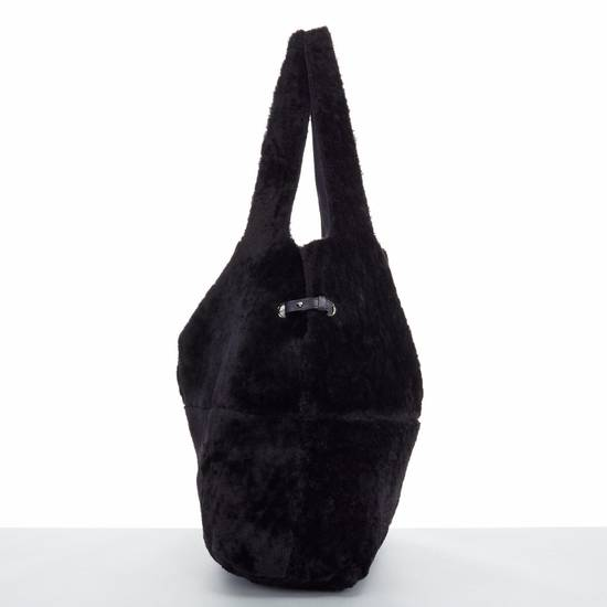 Givenchy GIVENCHY TISCI black reversible leather shearling fur oversize hobo shoulder bag Size ONE SIZE - 6