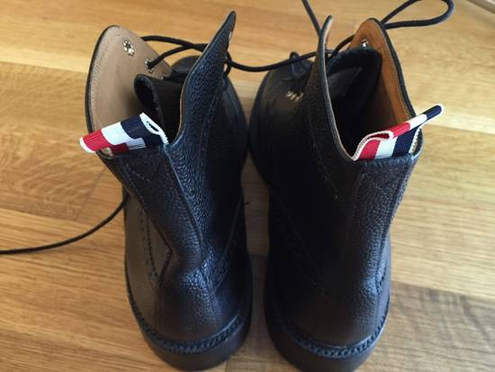 Thom Browne Black Leather Brogue Boots Size US 12 / EU 45 - 4