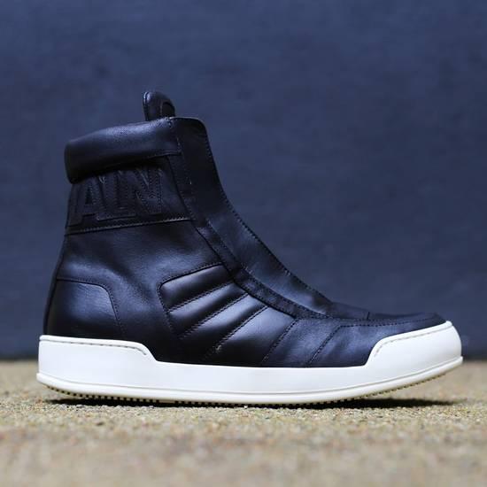 Balmain Black Leather Sneakers Size Us10 Eu43 Size US 10 / EU 43 - 1