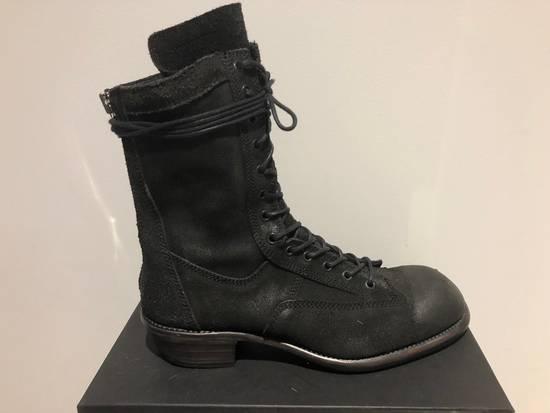 Julius Blistered Leather Back Zip Combat Boots Size US 11 / EU 44 - 1