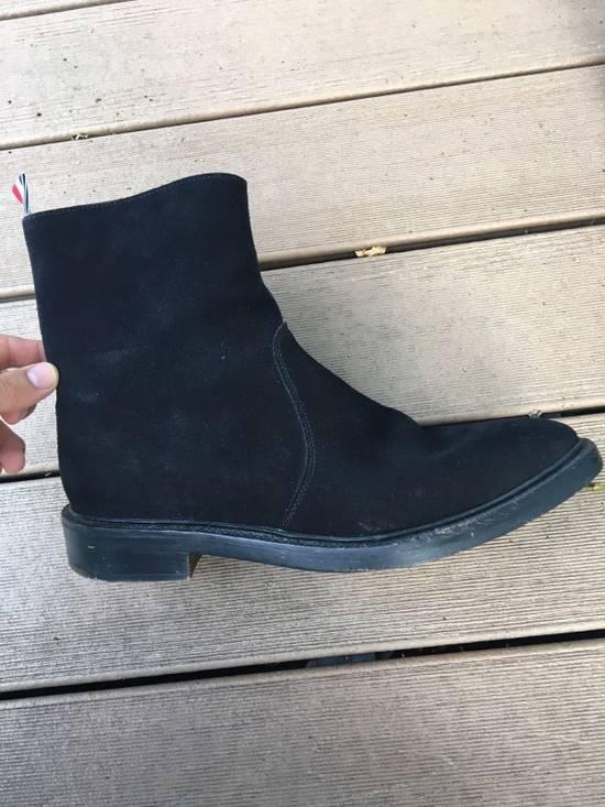 Thom Browne Black Chelsea Boots Side Zip 10.5 Size US 10.5 / EU 43-44