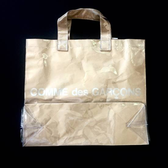 Comme des Garcons Brown Paper & Plastic Logo Tote Bag NWT Size ONE SIZE - 7