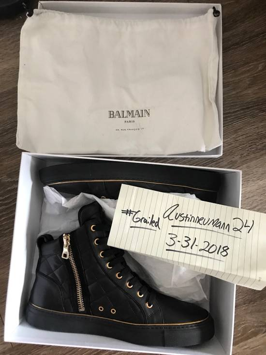 Balmain Quilted Hi Top Sneakers Size US 11 / EU 44 - 2