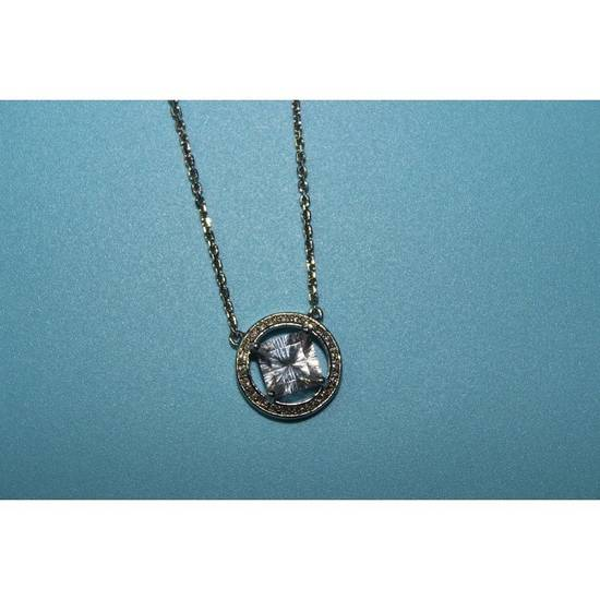 Givenchy Silver Crystal Pendant Necklace Size ONE SIZE - 1