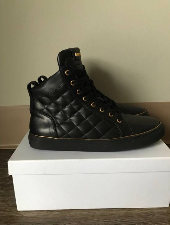 Balmain Quilted Hi Top Sneakers Size US 11 / EU 44 - 4