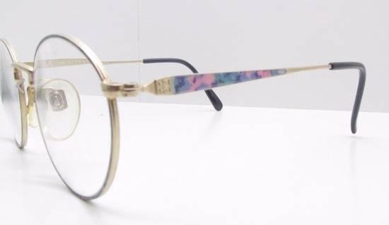 Givenchy GIVENCHY Vintage 90s Oval Round Frame Eyewear Gold Tone Purple Blue Pink Green Eyeglasses Glasses Size ONE SIZE - 1
