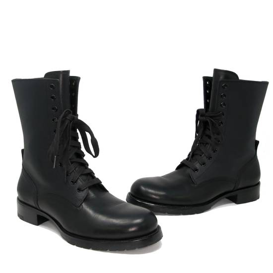 Balmain Balmain Black Classic Pierre Men's Leather Panelled High Combat Boots Booties Size US 9 / EU 42