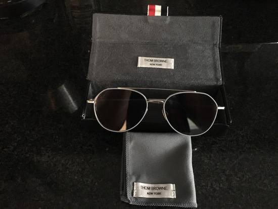 Thom Browne THOM BROWNE TB 105 Sunglasses Silver Grey Mirror New Retails $895 Size ONE SIZE