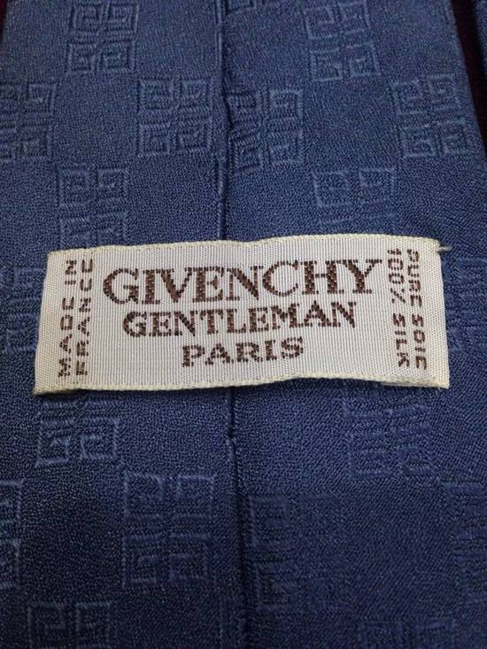 Givenchy Givenchy Grey Squared G Stripped Silk Tie Size ONE SIZE - 3